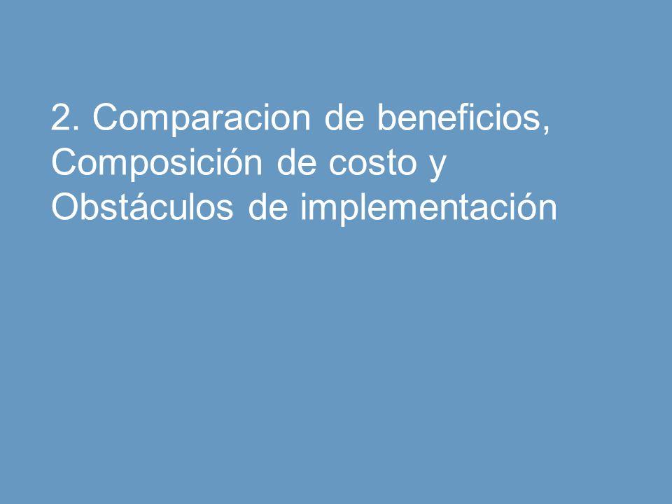 Manpower 16 La Integración al Mercado Laboral del Talento Latinoamericano Octubre 2008 2. Comparacion de beneficios, Composición de costo y Obstáculos