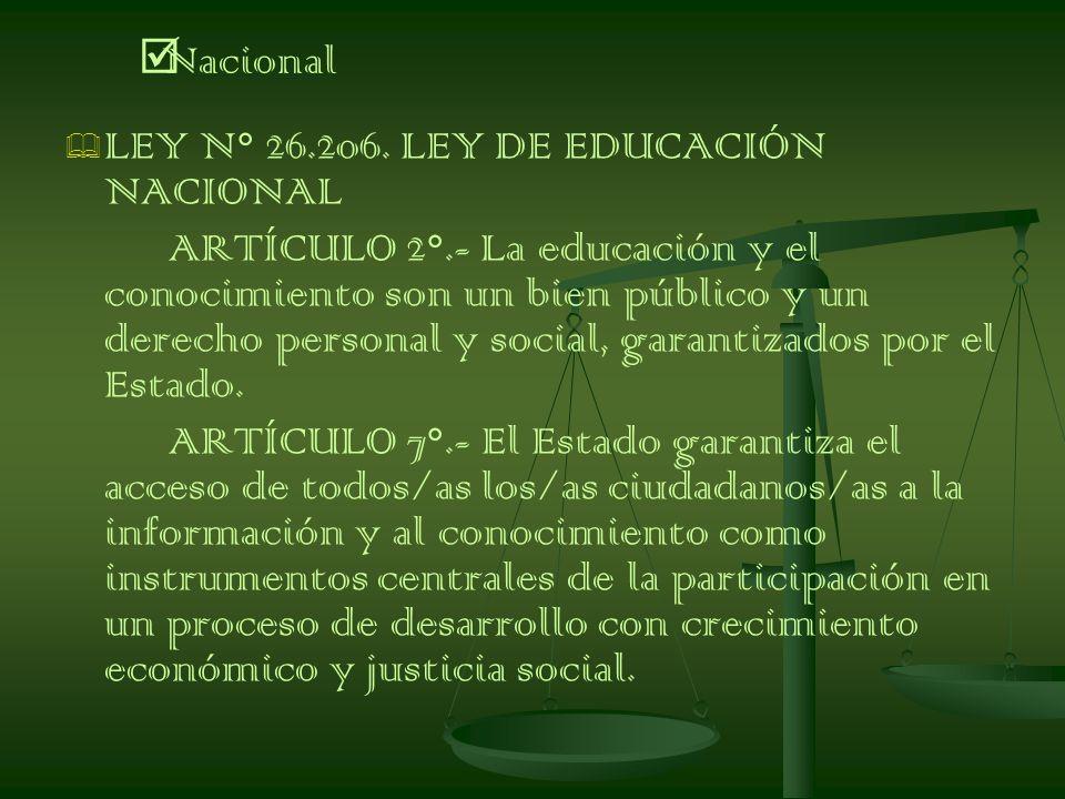 LEY N° 26.206.