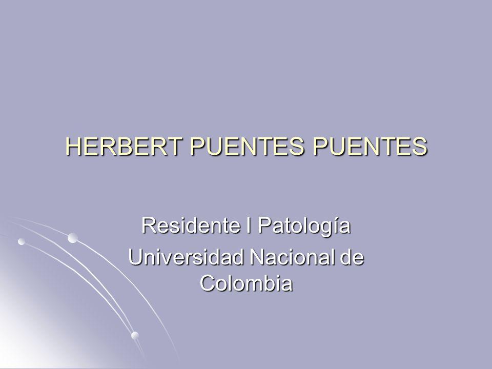 HERBERT PUENTES PUENTES Residente I Patología Universidad Nacional de Colombia
