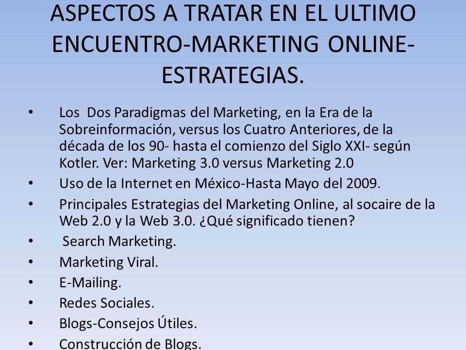 Dos Paradigmas del Marketing en la Era de la Sobreinformación Los 10 principios del Nuevo Marketing-Kotler.