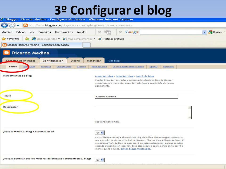3º Configurar el blog