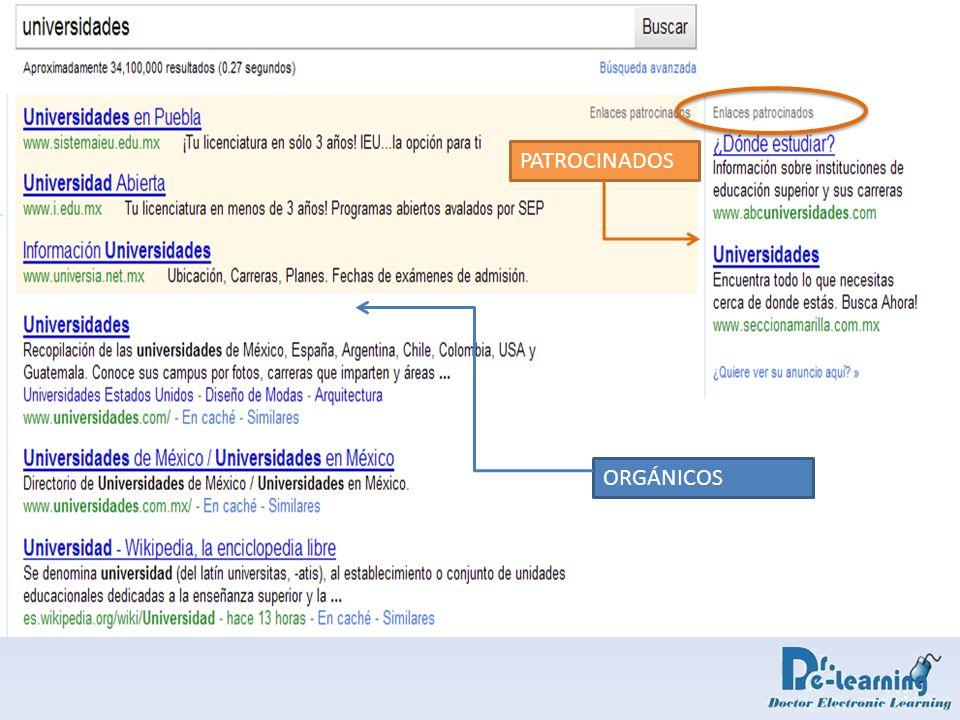 PATROCINADOS ORGÁNICOS