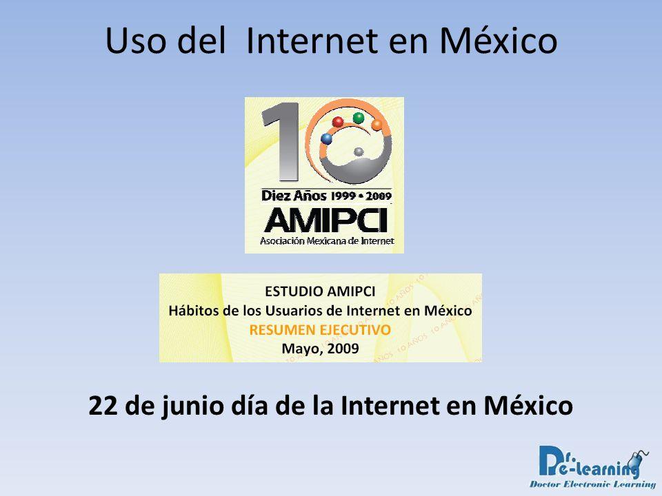 Uso del Internet en México 22 de junio día de la Internet en México