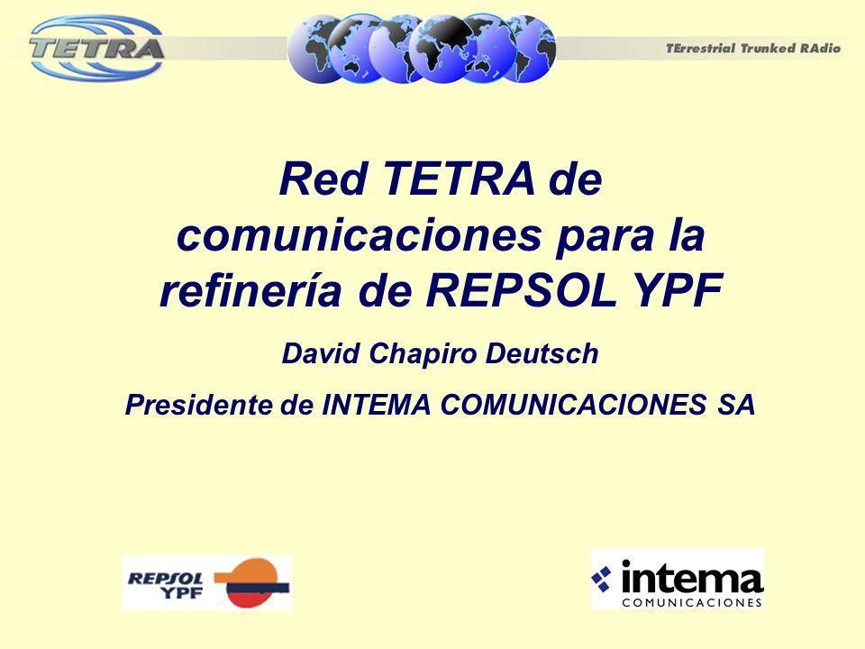 SITUACIÓN ACTUAL Repsol-YPF ha iniciado la migración a digital de las redes y servicios trunking analógicos que tiene actualmente en funcionamiento en la Destilería de La Plata y en las siguientes provincias: Mendoza Neuquén Chubut Santa Cruz Repsol-YPF en total cuenta con 30 sitios de cobertura y más de 2.500 terminales.