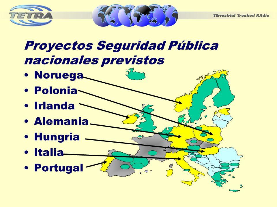 Proyectos Seguridad Pública nacionales previstos Noruega Polonia Irlanda Alemania Hungria Italia Portugal