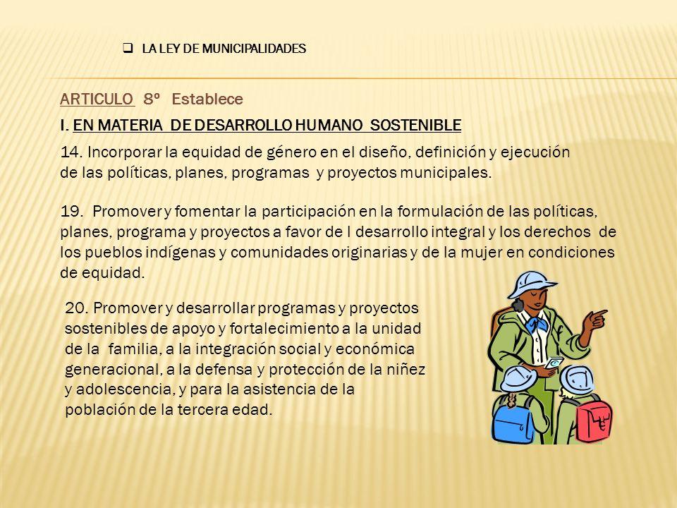 LA LEY DE MUNICIPALIDADES 23.