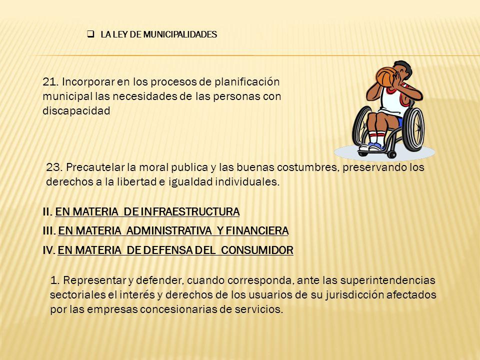 V.EN MATERIA DE SERVICIOS 8.