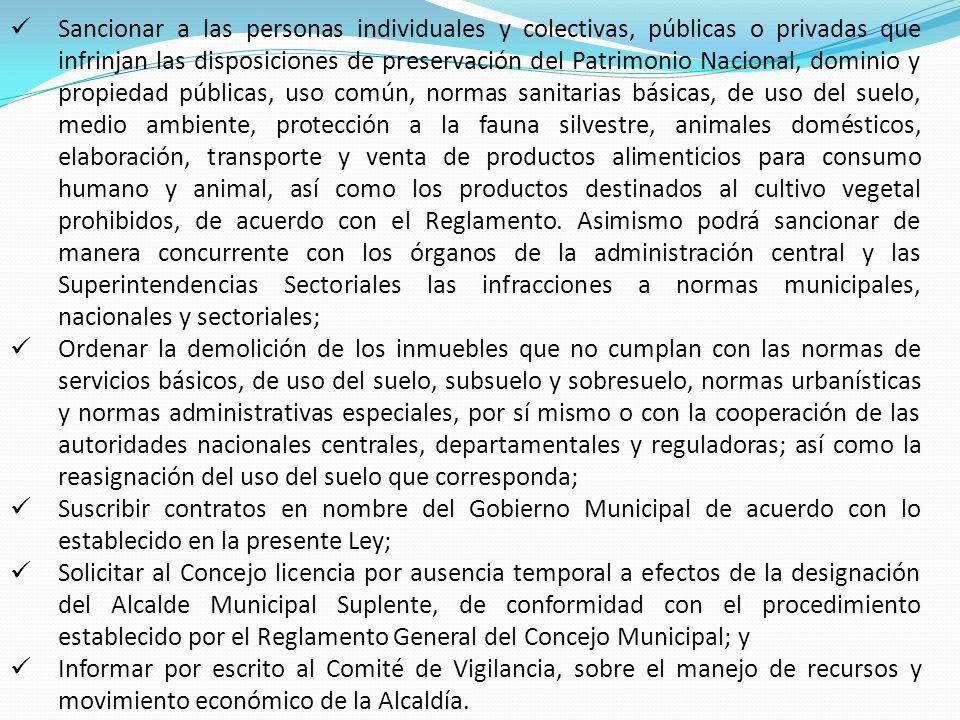 Sancionar a las personas individuales y colectivas, públicas o privadas que infrinjan las disposiciones de preservación del Patrimonio Nacional, domin