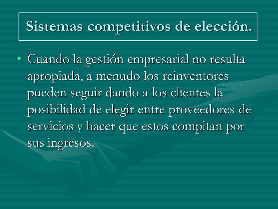 Sistemas competitivos de elección.