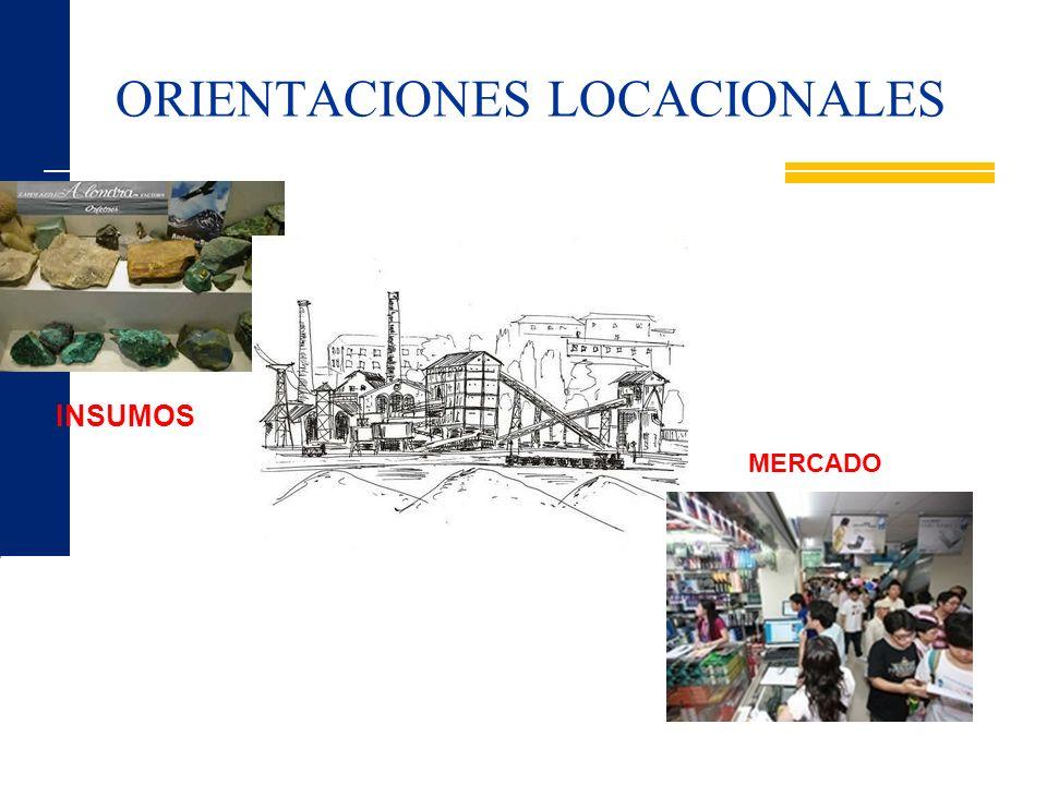 ORIENTACIONES LOCACIONALES INSUMOS MERCADO