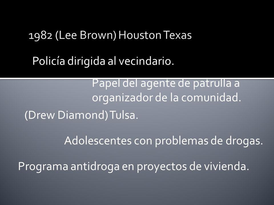 Policía dirigida al vecindario. Papel del agente de patrulla a organizador de la comunidad.