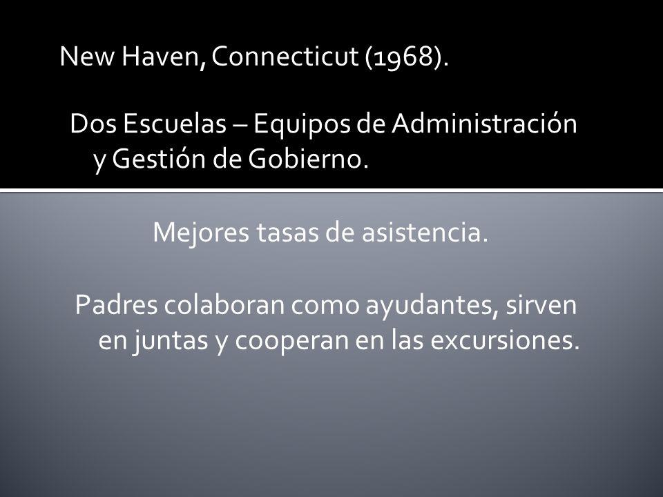 New Haven, Connecticut (1968). Dos Escuelas – Equipos de Administración y Gestión de Gobierno.