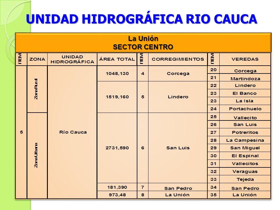 UNIDAD HIDROGRÁFICA RIO CAUCA La Unión SECTOR CENTRO