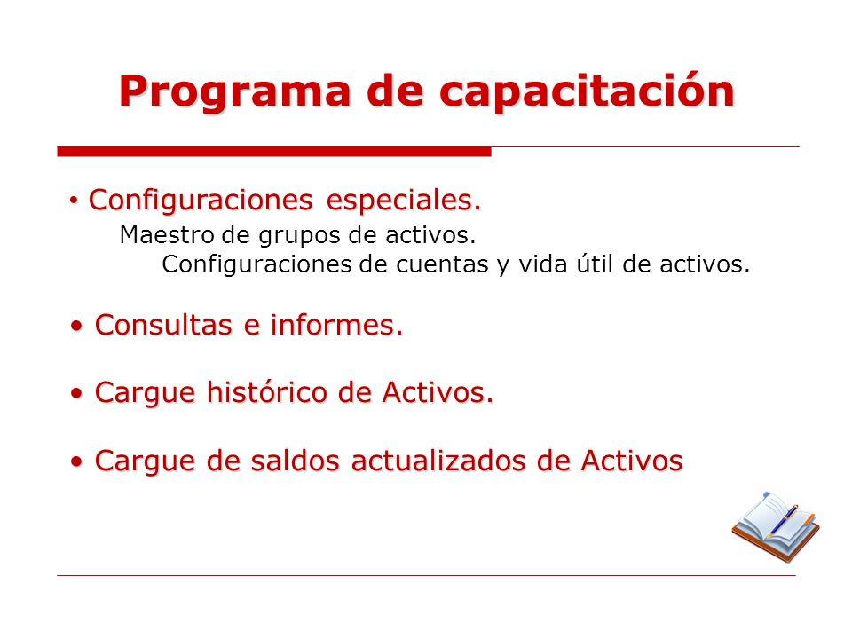 Definiciones en Activos Activo Fijo.