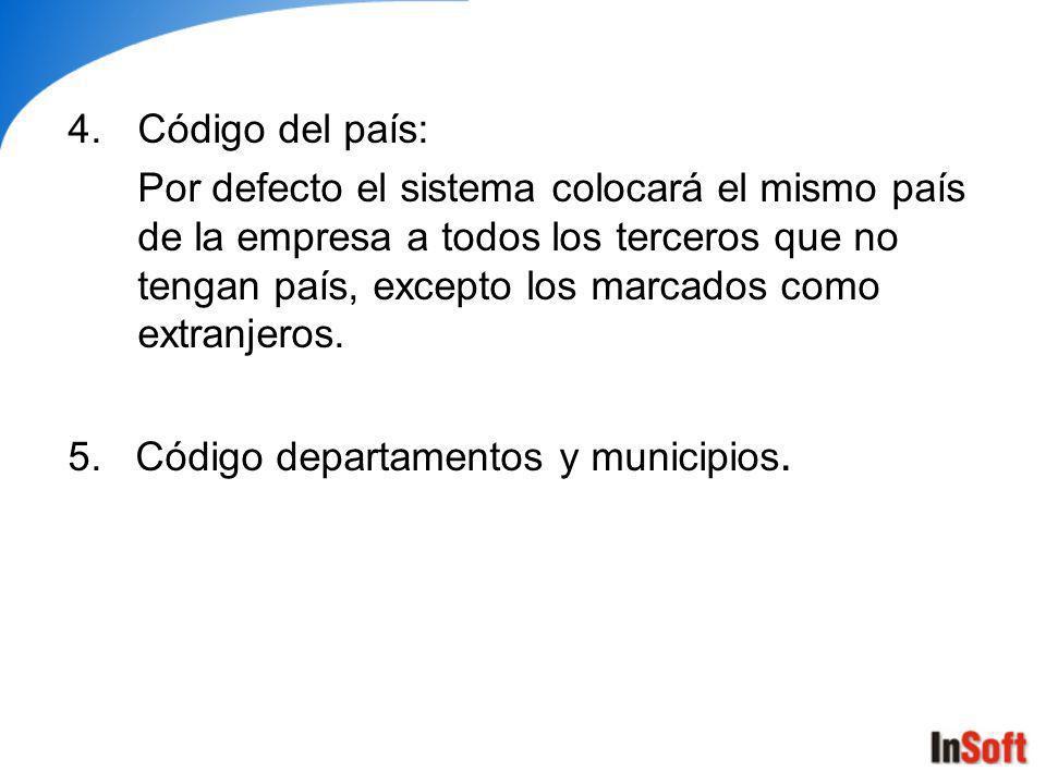 6.Personas extranjeras: Son los terceros con los que se tienen transacciones que no sean residenciados o domiciliados en Colombia.