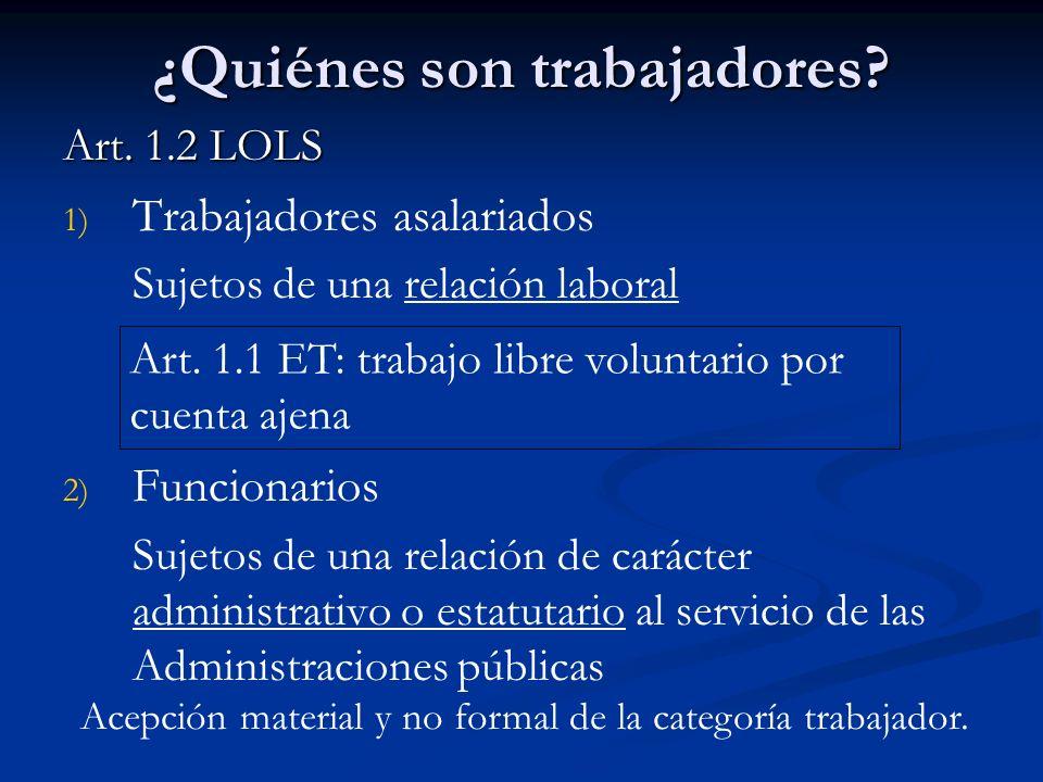 2.1.1 Trabajadores asalariados: Inclusiones Trabajadores por cuenta ajena.