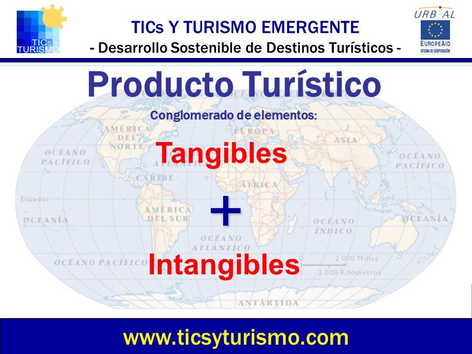 TICs Y TURISMO EMERGENTE - Desarrollo Sostenible de Destinos Turísticos - Producto Turístico Conglomerado de elementos: www.ticsyturismo.com Tangibles
