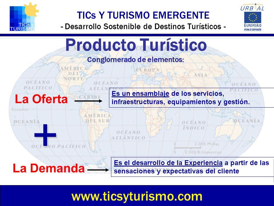 TICs Y TURISMO EMERGENTE - Desarrollo Sostenible de Destinos Turísticos - Producto Turístico Conglomerado de elementos: www.ticsyturismo.com La Oferta