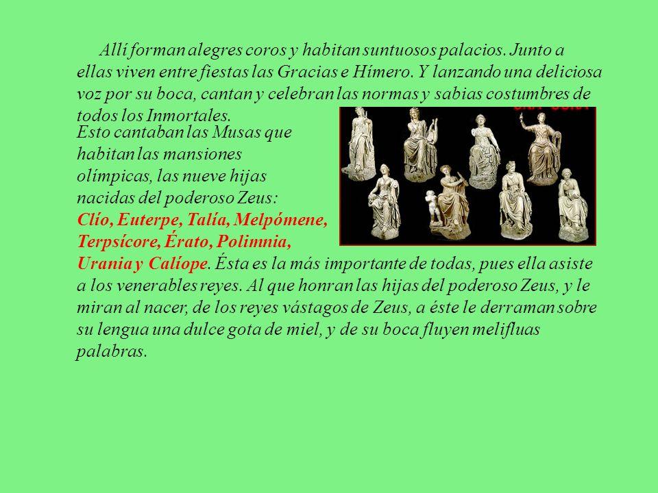 Al ser diosas del canto, están naturalmente relacionadas con Apolo, el dios de la lira, que como ellas instruía a los poetas.