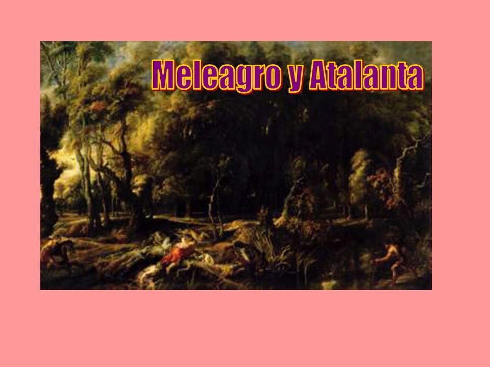 Altea Meleagro Cuando las noticias de la muerte del jabalí llegaron a Altea, ésta salió al templo para dar gracias, pero en el camino se encontró con el séquito morturio que llevaba a sus dos queridos hermanos a la pira funeraria.