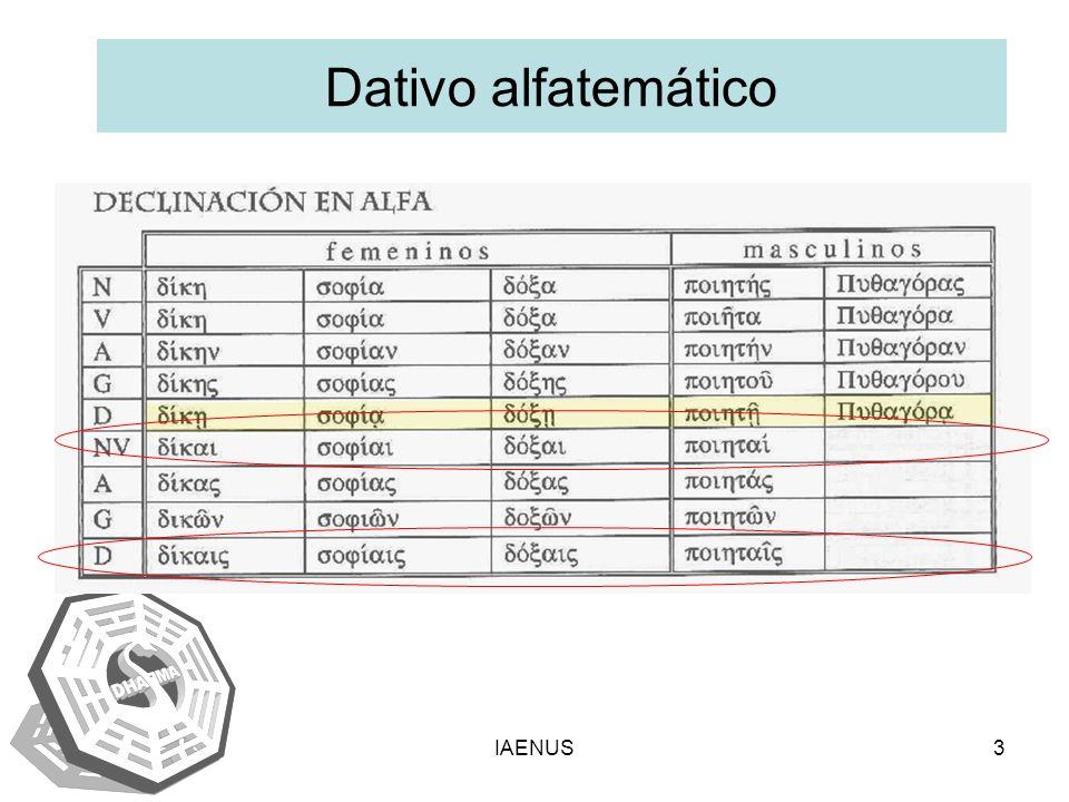 IAENUS3 Dativo alfatemático