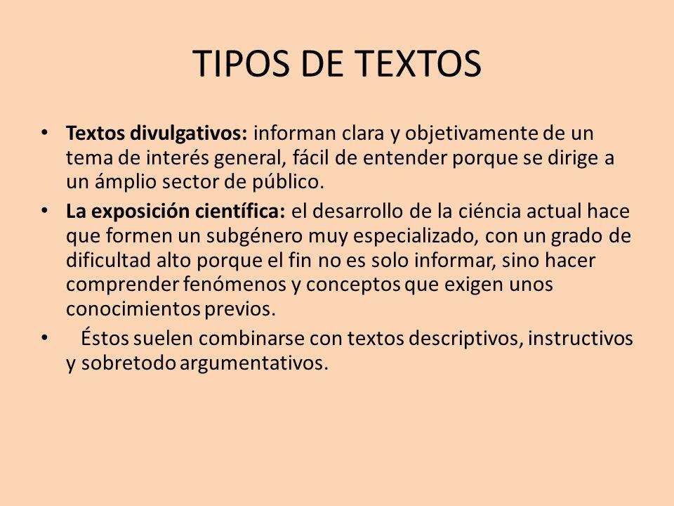 tipo texto oral: