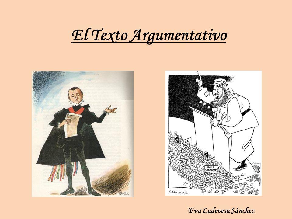 El Texto Argumentativo Eva Ladevesa Sánchez