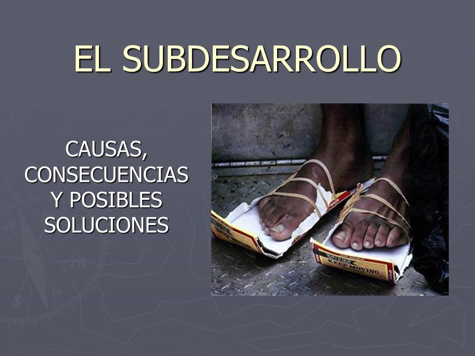 EL SUBDESARROLLO CAUSAS, CONSECUENCIAS Y POSIBLES SOLUCIONES