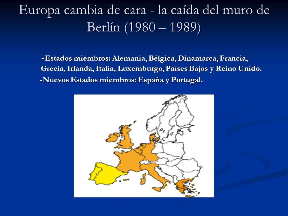 Europa sin fronteras.(1990 – 1999) Europa sin fronteras.