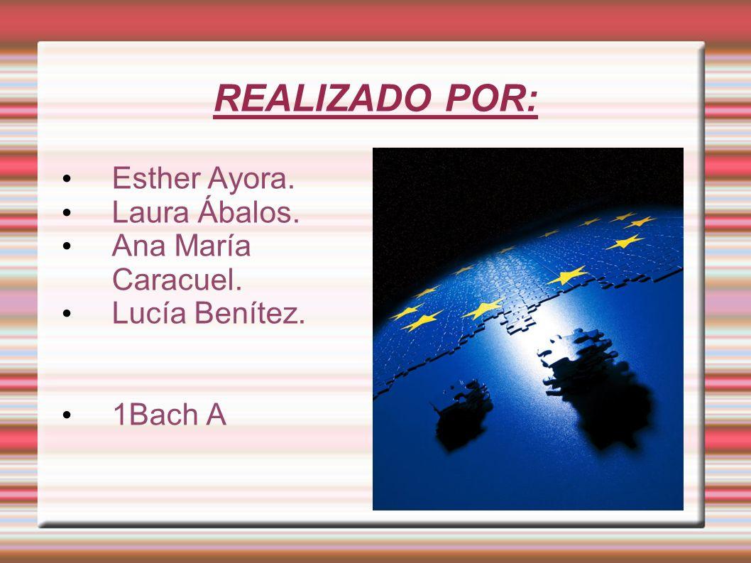 REALIZADO POR: Esther Ayora. Laura Ábalos. Ana María Caracuel. Lucía Benítez. 1Bach A