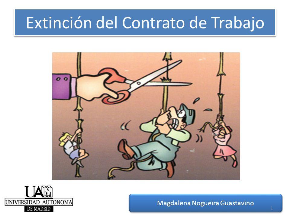 Extinción del Contrato de Trabajo MNG-2012 Magdalena Nogueira Guastavino 1