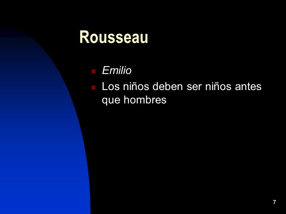7 Rousseau Emilio Los niños deben ser niños antes que hombres