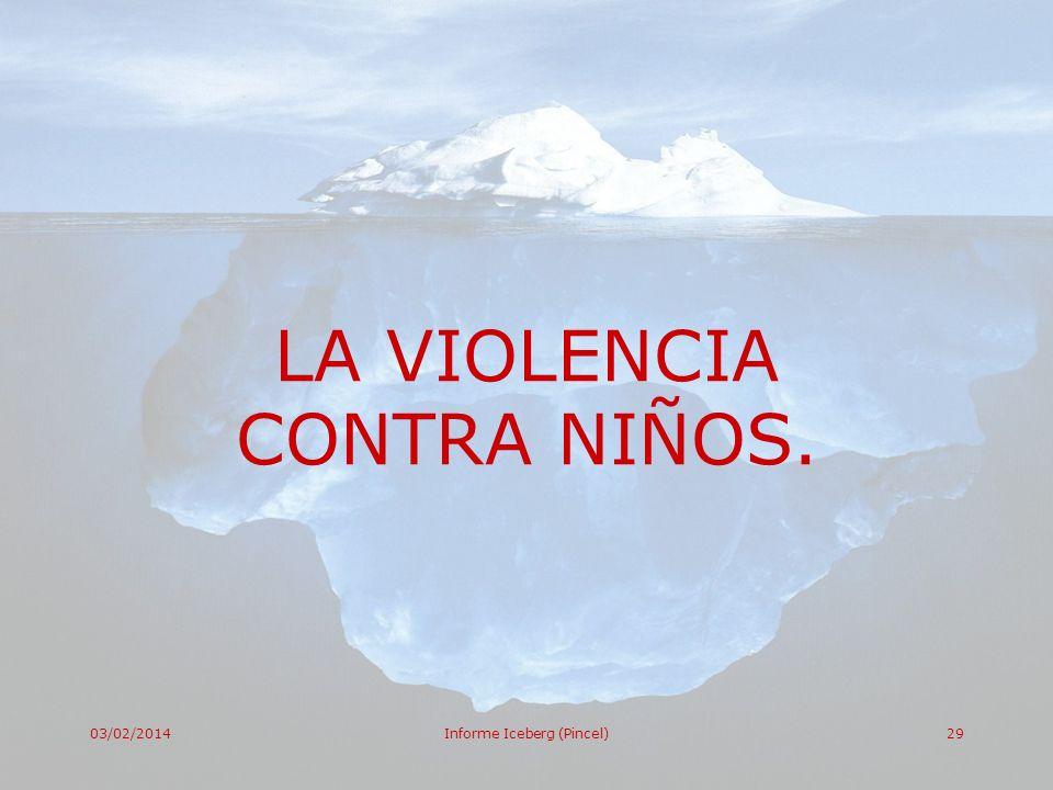 03/02/2014Informe Iceberg (Pincel)29 LA VIOLENCIA CONTRA NIÑOS.