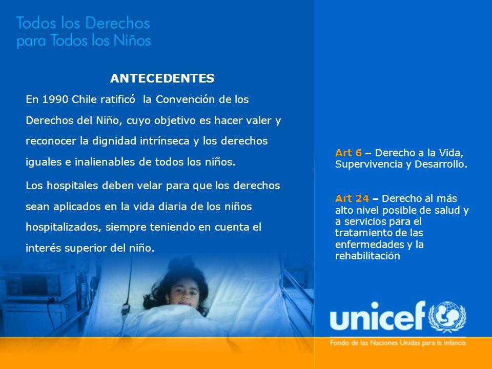 ANTECEDENTES En 1990 Chile ratificó la Convención de los Derechos del Niño, cuyo objetivo es hacer valer y reconocer la dignidad intrínseca y los dere