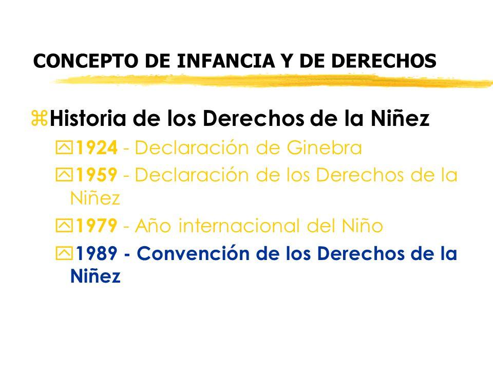 CONCEPTO DE INFANCIA Y DE DERECHOS z Historia de los Derechos de la Niñez y 1924 - Declaración de Ginebra y 1959 - Declaración de los Derechos de la N