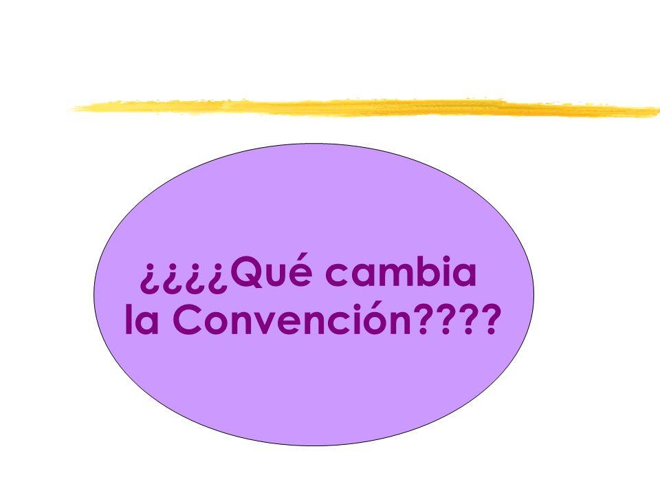 ¿¿¿¿Qué cambia la Convención????