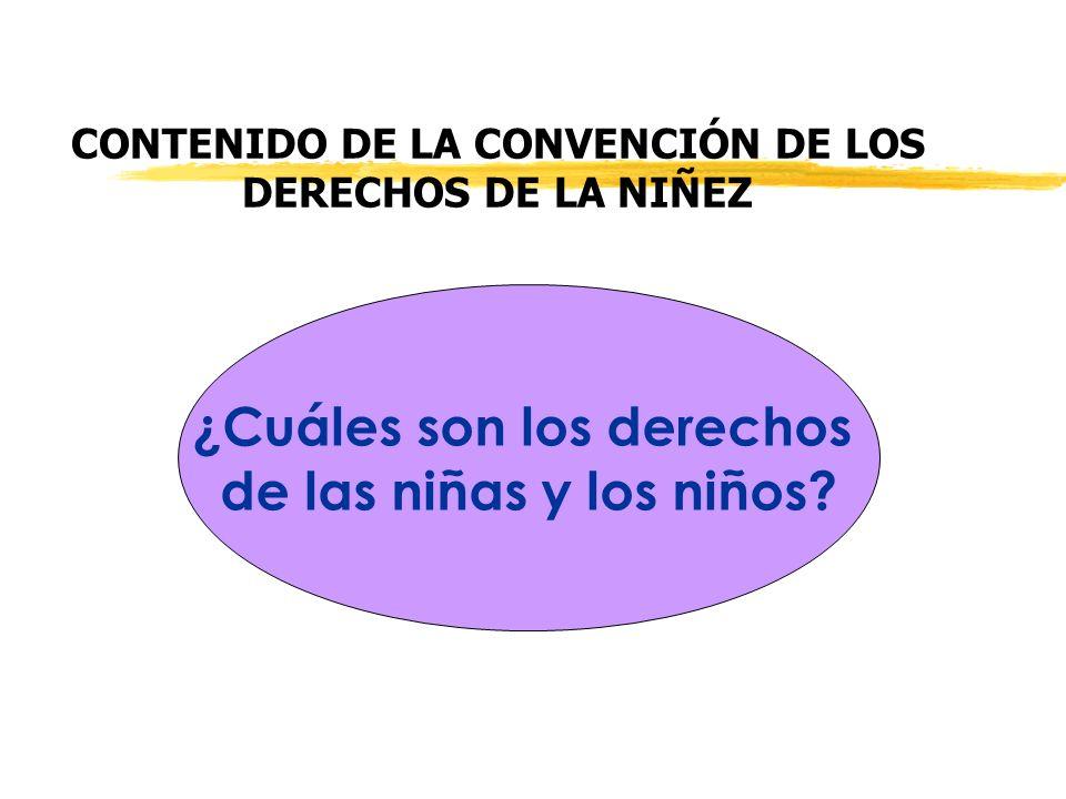 CONTENIDO DE LA CONVENCIÓN DE LOS DERECHOS DE LA NIÑEZ ¿Cuáles son los derechos de las niñas y los niños?