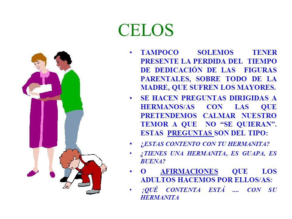 CELOS TAMPOCO SOLEMOS TENER PRESENTE LA PERDIDA DEL TIEMPO DE DEDICACIÓN DE LAS FIGURAS PARENTALES, SOBRE TODO DE LA MADRE, QUE SUFREN LOS MAYORES. SE