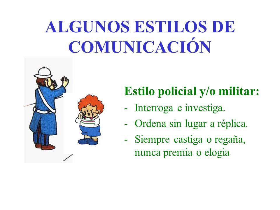 ALGUNOS ESTILOS DE COMUNICACIÓN Estilo muy ocupado/a: -Parece que escucha pero está centrado/a en otra actividad (y se le nota).