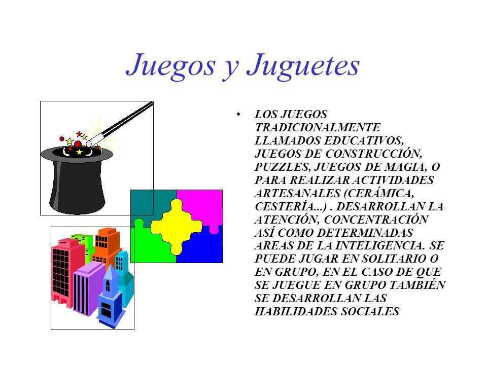 Juegos y Juguetes LOS JUEGOS TRADICIONALMENTE LLAMADOS EDUCATIVOS, JUEGOS DE CONSTRUCCIÓN, PUZZLES, JUEGOS DE MAGIA, O PARA REALIZAR ACTIVIDADES ARTES