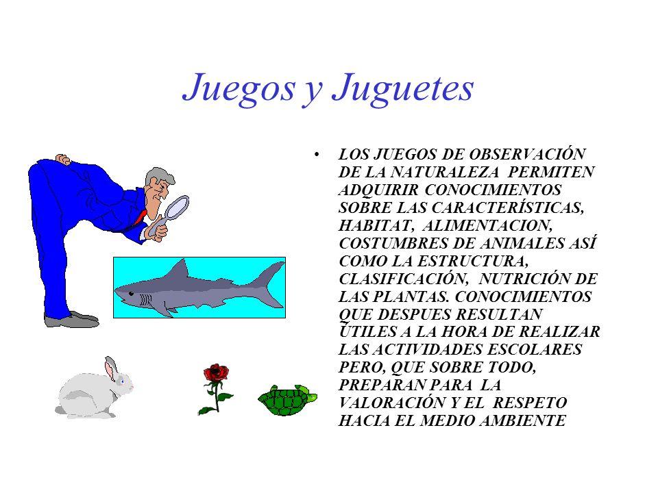 Juegos y Juguetes LOS JUEGOS DE OBSERVACIÓN DE LA NATURALEZA PERMITEN ADQUIRIR CONOCIMIENTOS SOBRE LAS CARACTERÍSTICAS, HABITAT, ALIMENTACION, COSTUMB