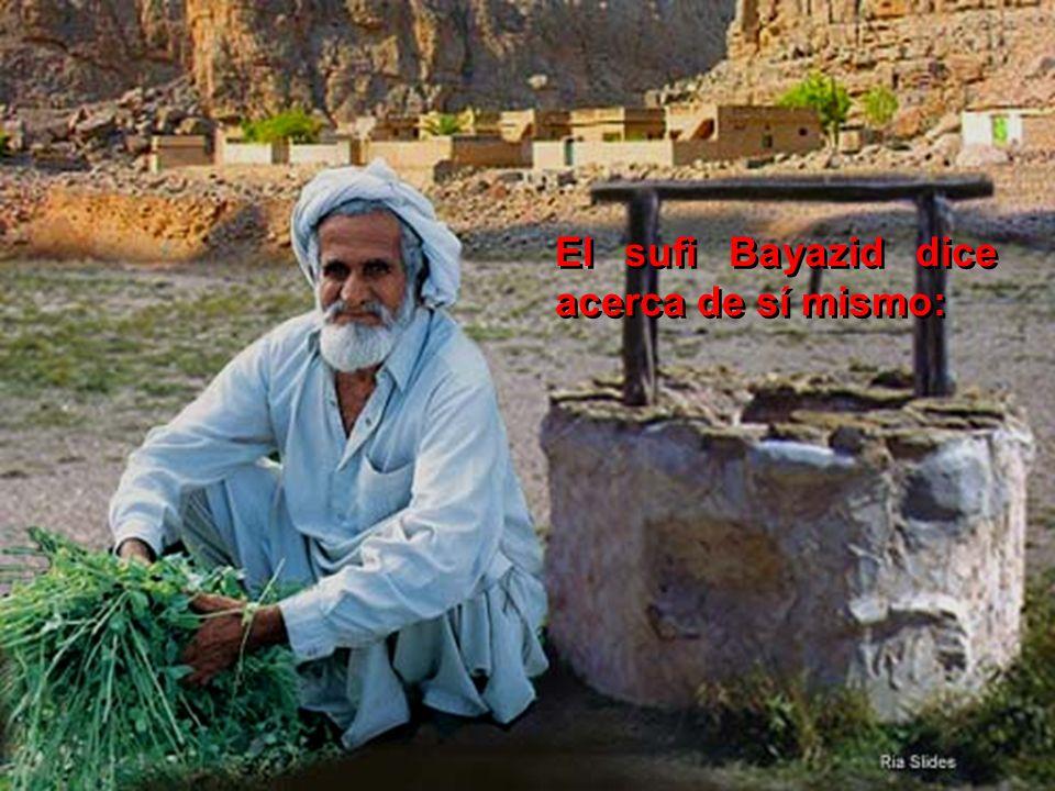 El sufi Bayazid dice acerca de sí mismo: