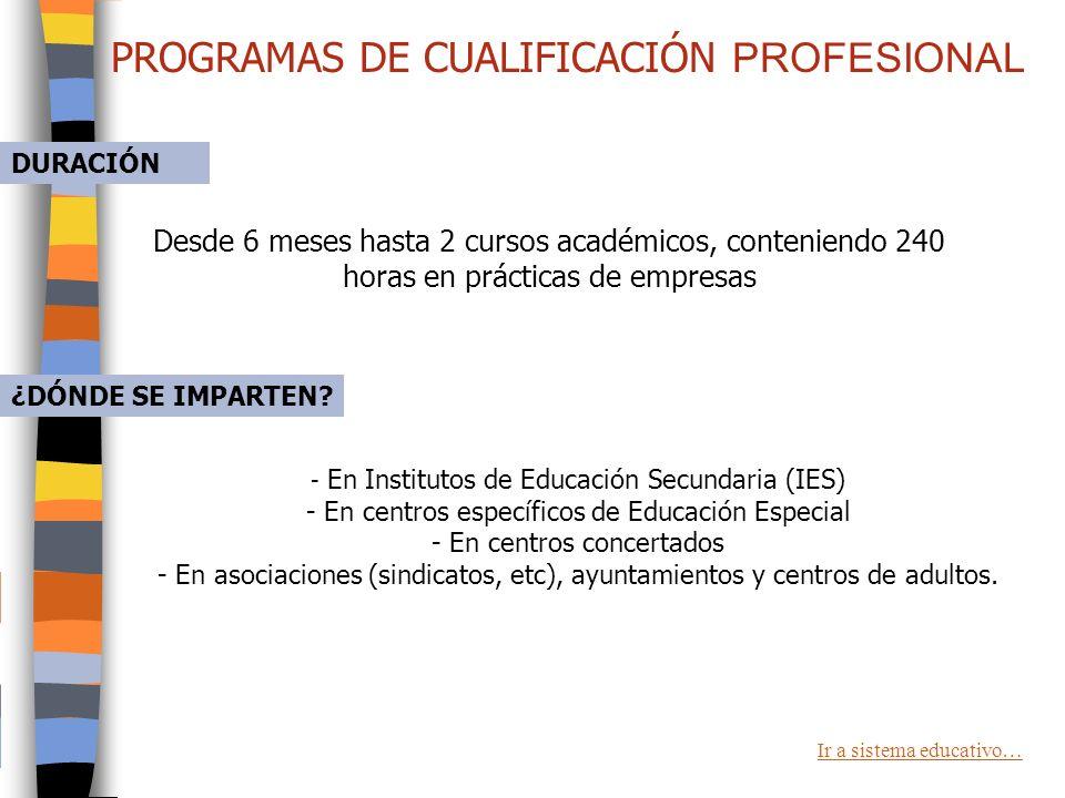 PROGRAMAS DE CUALIFICACIÓN INICIAL PROFESIONAL ¿QUÉ SON? Son programas educativos que proporcionan a alumnos/as, sin titulación, las enseñanzas mínima