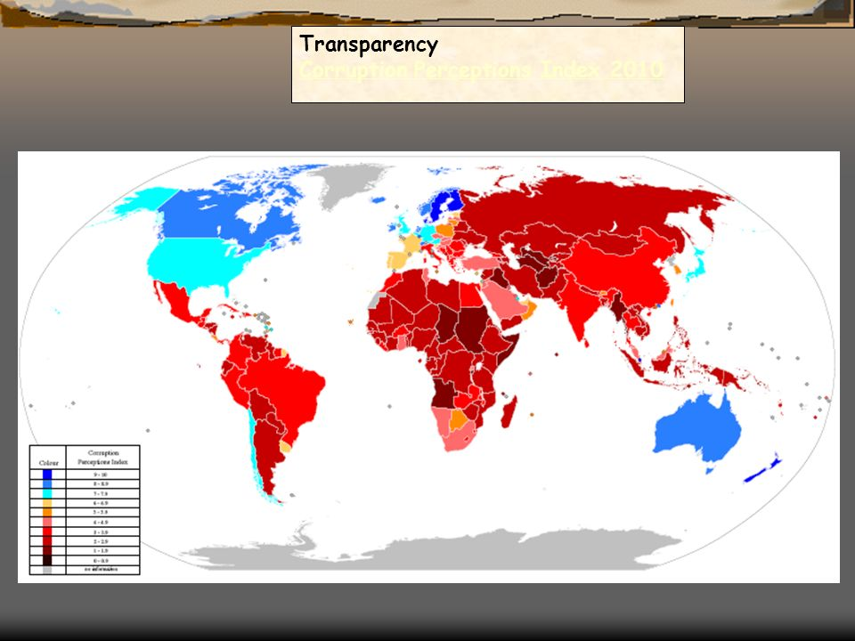 Transparency Corruption Perceptions Index 2010 Corruption Perceptions Index 2010