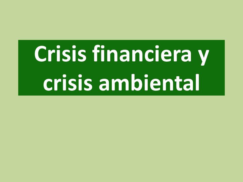 Crisis financiera y crisis ambiental