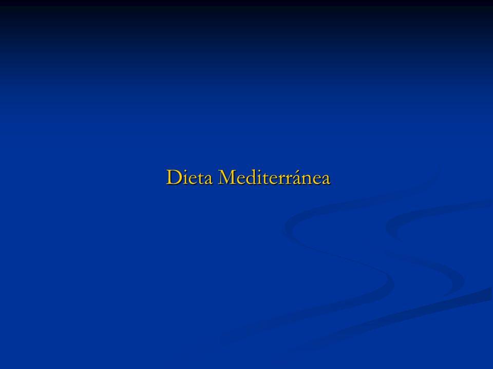 Antecedentes: Estudios llevados a cabo durante los últimos 30 años, pusieron de manifiesto que los países de la cuenca mediterránea: España, Italia, Francia, Grecia y Portugal tenían un menor porcentaje de infarto de miocardio y una menor tasa de mortalidad por cáncer.