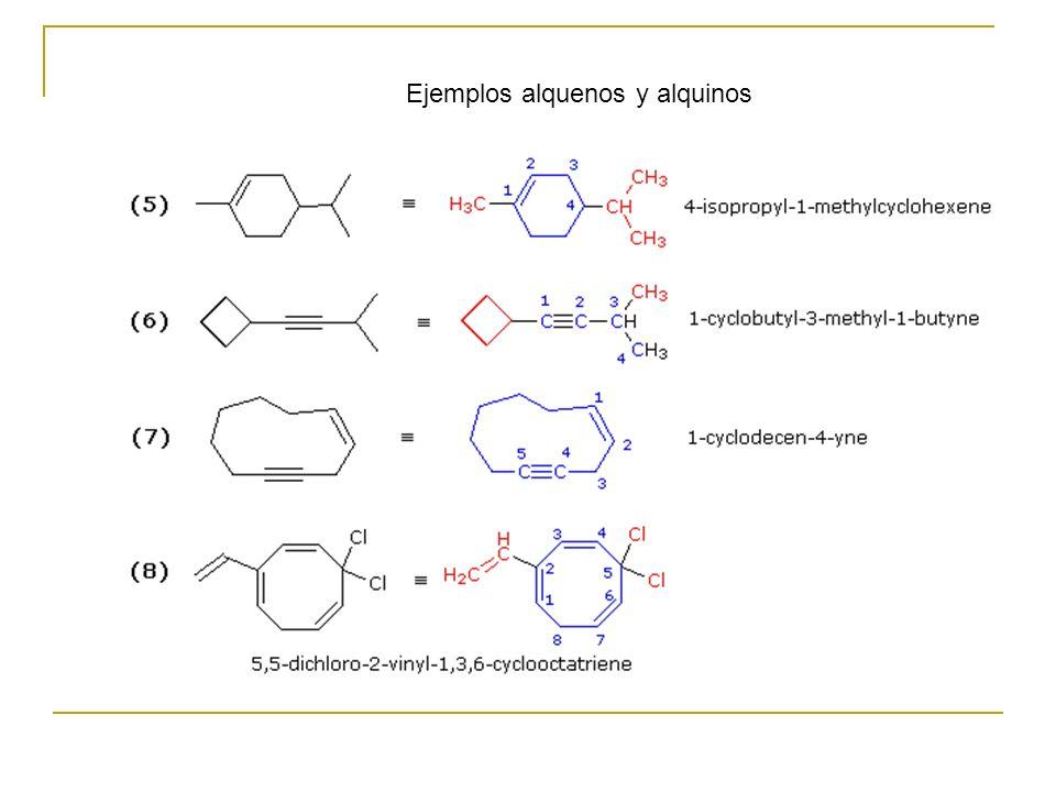 Ejemplos alquenos y alquinos