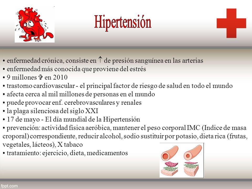 enfermedad crónica, consiste en de presión sanguínea en las arterias enfermedad más conocida que proviene del estrés 9 millones en 2010 trastorno card