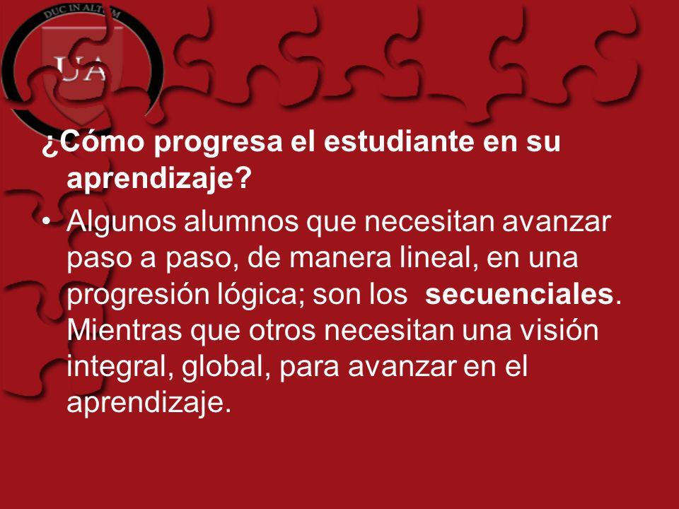 ¿Cómo progresa el estudiante en su aprendizaje.