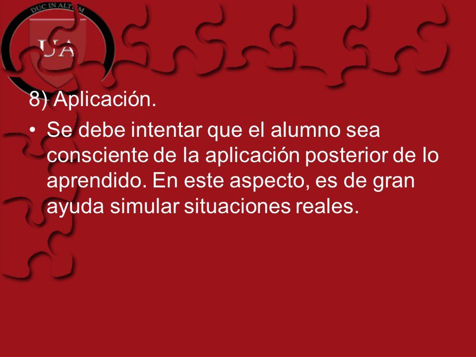 8) Aplicación.